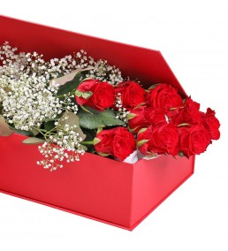 Kutuda 7 Kırmızı Gül